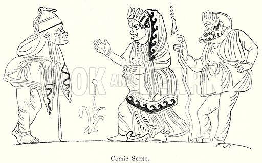 Comic Scene. Illustration from History of Rome by Victor Duruy (Kegan Paul, Trench & Co, 1884).