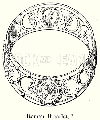 Roman Bracelet. Illustration from History of Rome by Victor Duruy (Kegan Paul, Trench & Co, 1884).