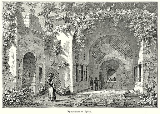Nymphaeum of Egeria. Illustration from History of Rome by Victor Duruy (Kegan Paul, Trench & Co, 1884).
