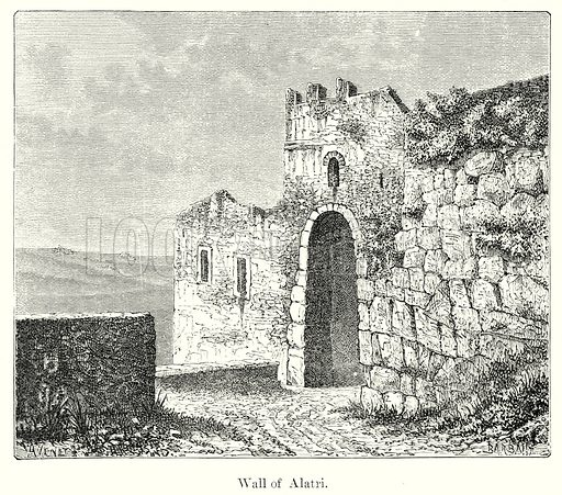Wall of Alatri. Illustration from History of Rome by Victor Duruy (Kegan Paul, Trench & Co, 1884).