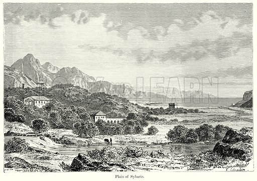 Plain of Sybaris. Illustration from History of Rome by Victor Duruy (Kegan Paul, Trench & Co, 1884).