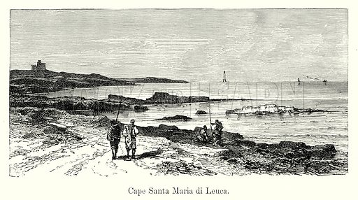 Cape Santa Maria di Leuca. Illustration from History of Rome by Victor Duruy (Kegan Paul, Trench & Co, 1884).
