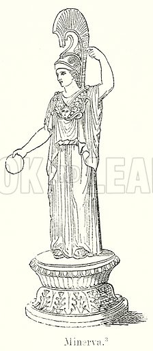 Minerva. Illustration from History of Rome by Victor Duruy (Kegan Paul, Trench & Co, 1884).