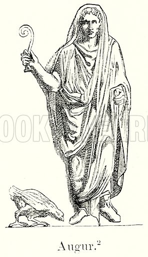 Augur. Illustration from History of Rome by Victor Duruy (Kegan Paul, Trench & Co, 1884).