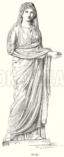 Stola. Illustration from History of Rome by Victor Duruy (Kegan Paul, Trench & Co, 1884).
