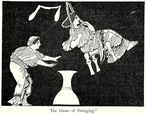 The Game of Swingine. Illustration from History of Rome by Victor Duruy (Kegan Paul, Trench & Co, 1884).