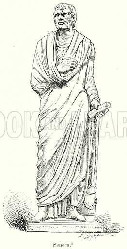 Seneca. Illustration from History of Rome by Victor Duruy (Kegan Paul, Trench & Co, 1884).