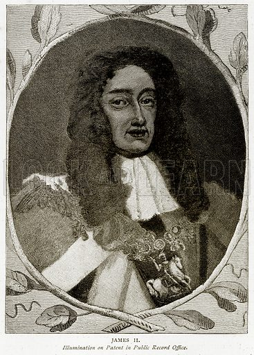 James II. Illustration from A Short History of the English People by JR Green (Macmillan, 1892).