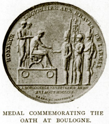 Medal Commemorating the Oath at Boulogne. Illustration from A Short History of the English People by JR Green (Macmillan, 1892).