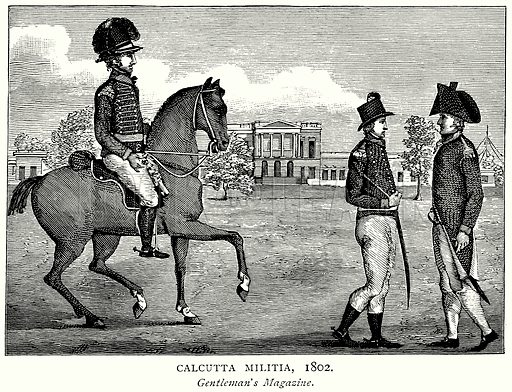 Calcutta Militia, 1802. Illustration from A Short History of the English People by JR Green (Macmillan, 1892).