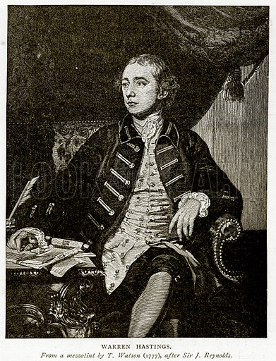 Warren Hastings. Illustration from A Short History of the English People by JR Green (Macmillan, 1892).