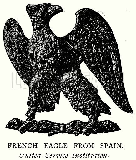French Eagle from Spain. Illustration from A Short History of the English People by JR Green (Macmillan, 1892).