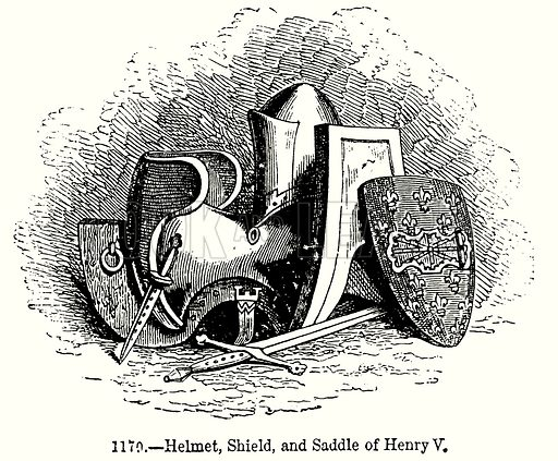 Helmet, Shield, and Saddle of Henry V - Look and Learn