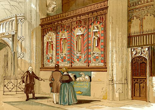 Painted screen, St George