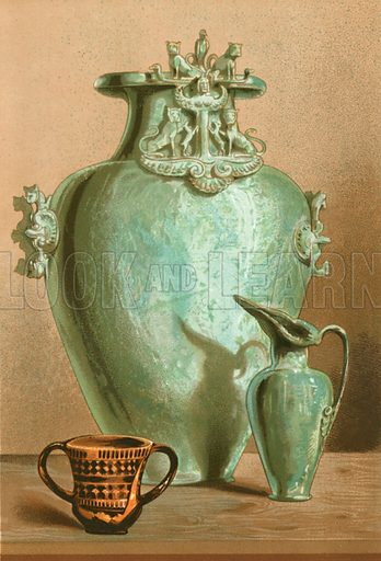 Vase from Graeckwyl, from the Museum of Saint-Germain. Illustration from History of Rome by Victor Duruy (Kegan, Paul, Trench & Co, 1884).