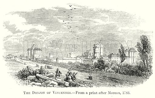 The Donjon of Vincennes. Illustration from The Comprehensive History of England by Charles Macfarlance et al (Gresham Publishing, 1902).