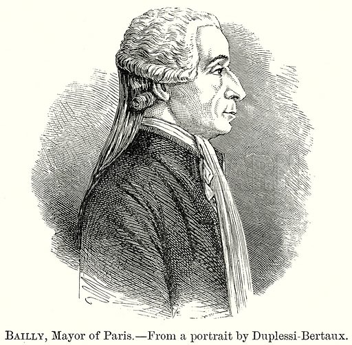 Bailly, Mayor of Paris. Illustration from The Comprehensive History of England by Charles Macfarlance et al (Gresham Publishing, 1902).
