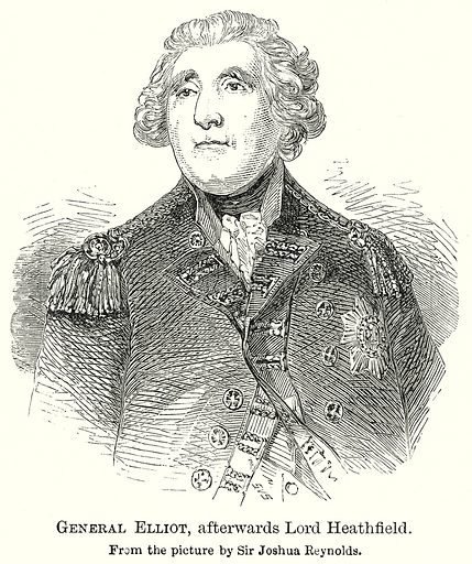 General Ellitot, afterwards Lord Heathfield. Illustration from The Comprehensive History of England by Charles Macfarlance et al (Gresham Publishing, 1902).