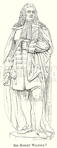 Sir Robert Walpole. Illustration from The Comprehensive History of England by Charles Macfarlance et al (Gresham Publishing, 1902).