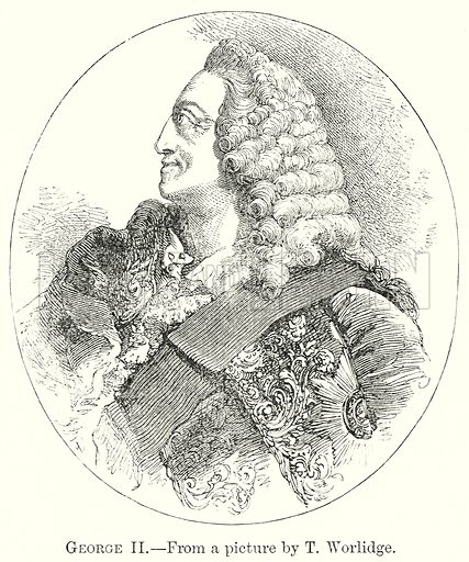George II. Illustration from The Comprehensive History of England by Charles Macfarlance et al (Gresham Publishing, 1902).