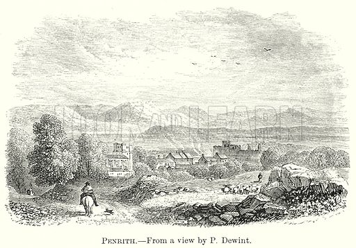 Penrith. Illustration from The Comprehensive History of England by Charles Macfarlance et al (Gresham Publishing, 1902).