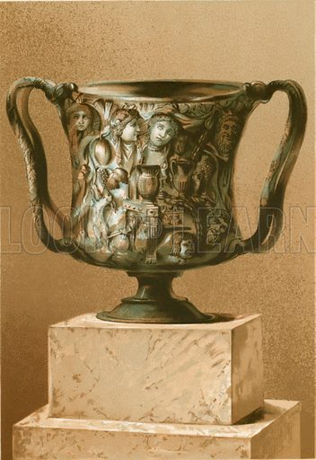 Cup worked in oriental sardonyx.  Illustration from History of Rome by Victor Duruy (Kegan, Paul, Trench & Co, 1884).
