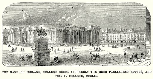 The Bank of Ireland, College Green (Formerly the Irish Parliament