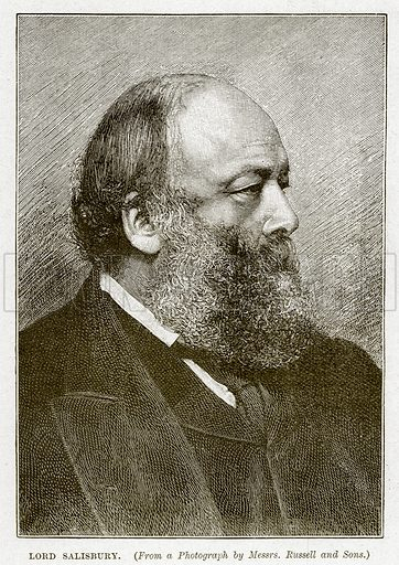 Lord Salisbury. Illustration from Cassell's History of England (special edition, A W Cowan, c 1890).
