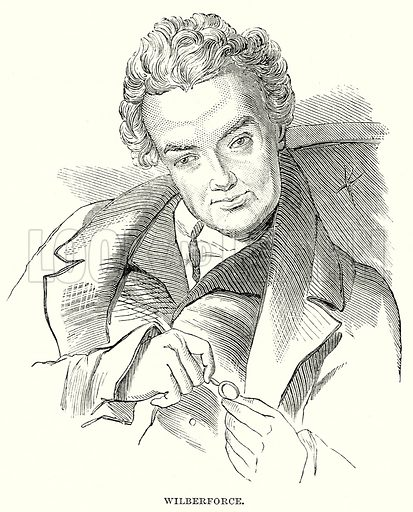 Wilberforce. Illustration from The Book of Days (W R Chambers, c 1870).