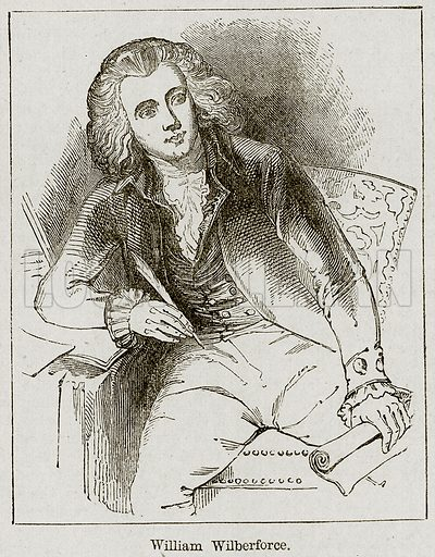 William Wilberforce. Illustration from The Imperial History of England (Ward Lock, 1891).