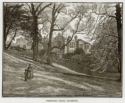 Pembroke Lodge, Richmond. Illustration from The Life and Times of Queen Victoria by Robert Wilson (Cassell, 1893).