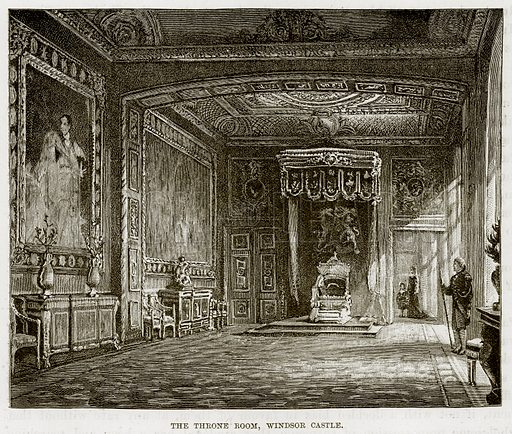 The Throne Room, Windsor Castle. Illustration from The Life and Times of Queen Victoria by Robert Wilson (Cassell, 1893).