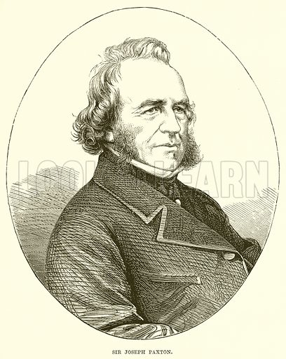 Sir Joseph Paxton. Illustration from The Life and Times of Queen Victoria by Robert Wilson (Cassell, 1893).