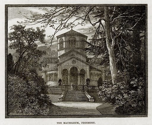 The Mausoleum, Frogmore. Illustration from The Life and Times of Queen Victoria by Robert Wilson (Cassell, 1893).