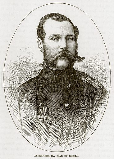 Alexander II, Czar of Russia. Illustration from The Life and Times of Queen Victoria by Robert Wilson (Cassell, 1893).
