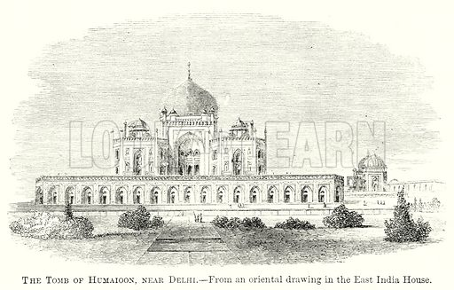 The Tomb of Humaioon, near Delhi. Illustration from The Comprehensive History of England by Charles Macfarlance et al (Gresham Publishing, 1902).
