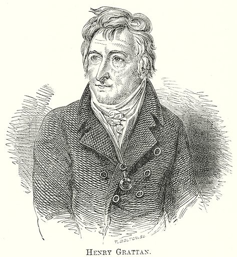 Henry Grattan. Illustration from The Comprehensive History of England by Charles Macfarlance et al (Gresham Publishing, 1902).