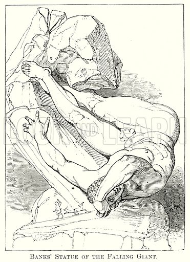 Banks' Statue of the Falling Giant. Illustration from The Comprehensive History of England by Charles Macfarlance et al (Gresham Publishing, 1902).