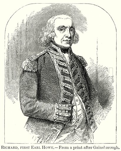 Richard, First Earl Howe. Illustration from The Comprehensive History of England by Charles Macfarlance et al (Gresham Publishing, 1902).