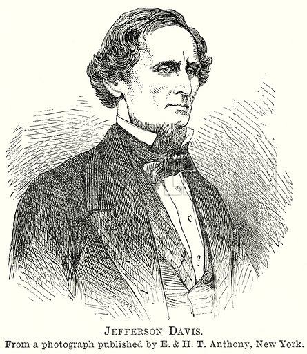Jefferson Davis. Illustration from The Comprehensive History of England by Charles Macfarlance et al (Gresham Publishing, 1902).