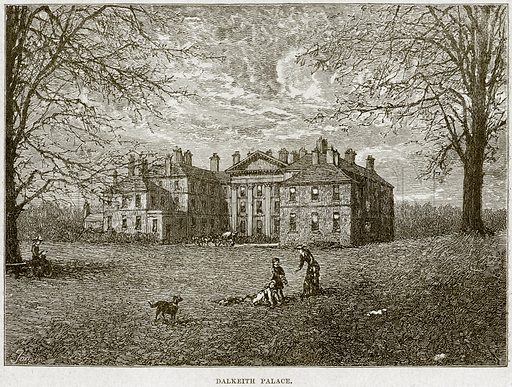 Dalkeith Palace. Illustration from Cassell's History of England (special edition, AW Cowan, c 1890).