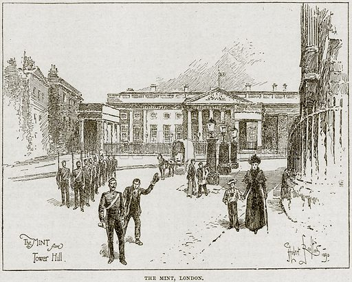 The Mint, London. Illustration from Cassell's History of England (special edition, AW Cowan, c 1890).