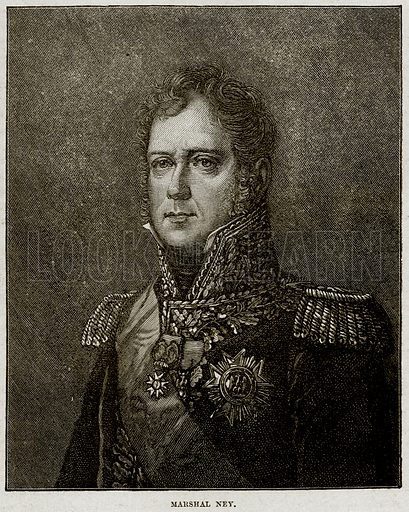 Marshal Ney. Illustration from Cassell's History of England (special edition, AW Cowan, c 1890).
