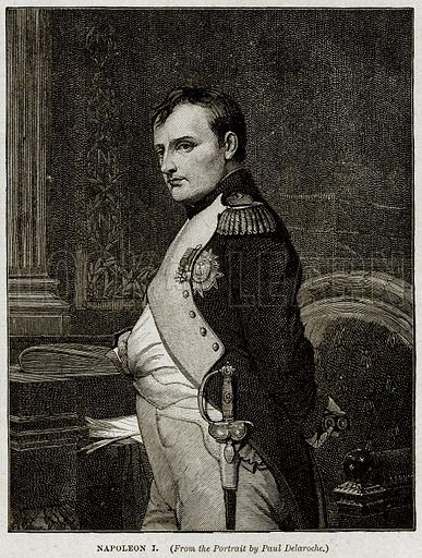 Napoleon I. Illustration from Cassell's History of England (special edition, AW Cowan, c 1890).
