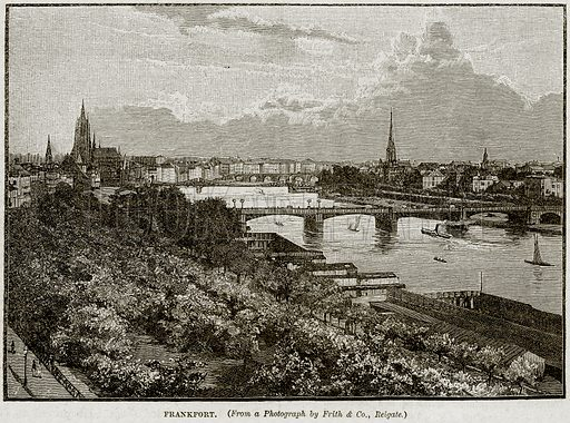 Frankfort. Illustration from Cassell's History of England (special edition, AW Cowan, c 1890).