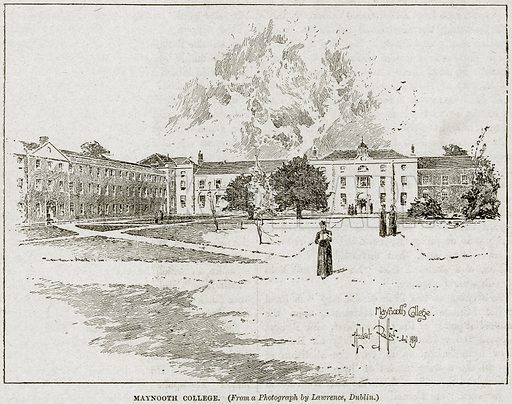 Maynooth College. Illustration from Cassell's History of England (special edition, AW Cowan, c 1890).