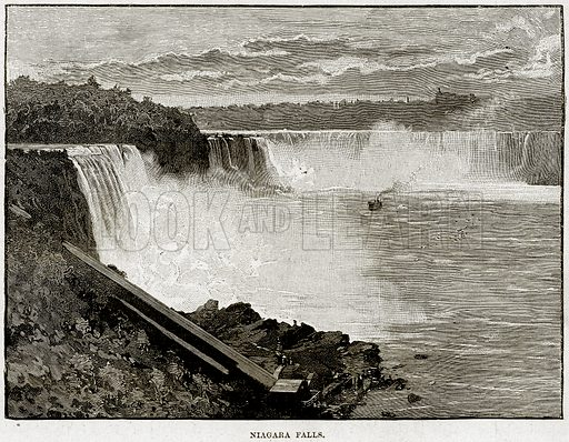 Niagara Falls. Illustration from Cassell's History of England (special edition, AW Cowan, c 1890).
