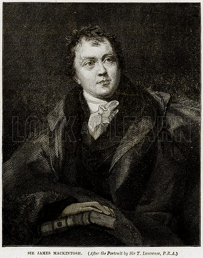 Sir James Mackintosh. Illustration from Cassell's History of England (special edition, AW Cowan, c 1890).
