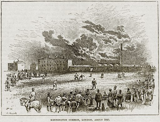 Kennington Common, London, about 1840. Illustration from Cassell's History of England (special edition, AW Cowan, c 1890).