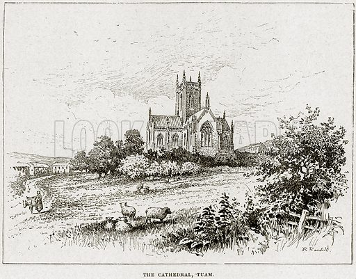 The Cathedral, Tuam. Illustration from Cassell's History of England (special edition, AW Cowan, c 1890).